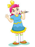 Music kid. The music kid cute cartoon Royalty Free Stock Photo