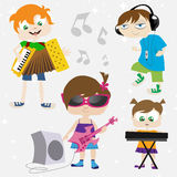 Music kids Stock Photography