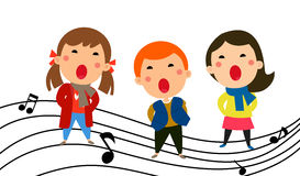 Music kids Stock Images