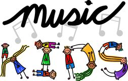 Music Kids Title Text Royalty Free Stock Photography