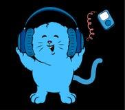 Music Kitten Stock Photo