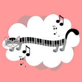 Music kitty Royalty Free Stock Photos