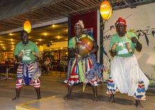 Music in Kombo beach hotel. Night Music and dancing in Kombo Beach Hotel in Gambia royalty free stock photography