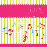 Music label design Royalty Free Stock Image