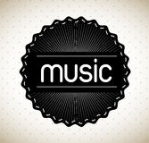 Music label Stock Image