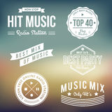 Music Labels stock illustration
