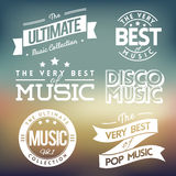 Music Labels Vol.3 Stock Photo