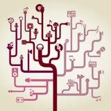 Music a labyrinth Stock Image