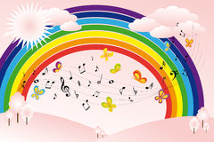 Music landscape Stock Photos