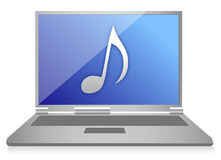 Music laptop Stock Photo