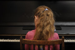 Before a music lesson. Stock Photo
