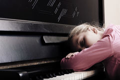 After a music lesson. Royalty Free Stock Photos