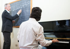 Music lesson Stock Photo