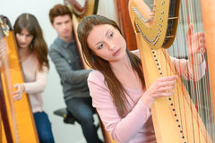 Music lesson at conservatory Royalty Free Stock Photos