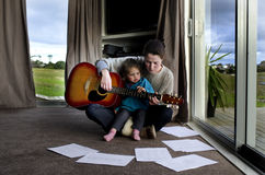 Music lessons stock photography