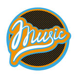 Music Lettering. Calligraphic In The Circle Stock Photography