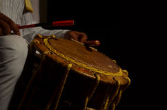 Music for Life. Musical (Percussion instrument) Instrument (Chande) used in one of the oldest folk dance (Yakshaghana) in karnataka Stock Images