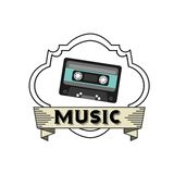 Music lifestyle design Royalty Free Stock Images
