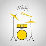 Music lifestyle design Stock Image