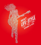 Music Lifestyle, digital, play, vector illustration Stock Images