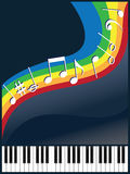 Music like a rainbow Royalty Free Stock Images