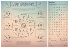 Music Line Design Infographic Template Stock Photography