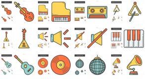 Music line icon set. Stock Photography
