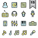 Music Line icons set. Royalty Free Stock Image