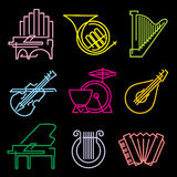 Music lines icons Stock Photo