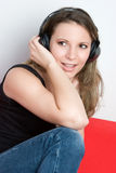 Music Listening Girl Stock Photos