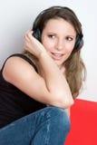 Music Listening Girl Stock Photos