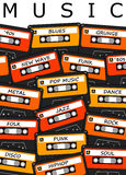 Music. Listening to all kinds of music Royalty Free Stock Photography