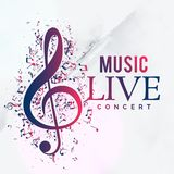 Music live concert poster flyer template design. Illustration Royalty Free Stock Photos
