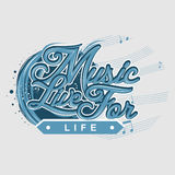 Music Live for Life stock illustration