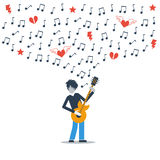 Music live performance royalty free illustration