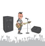 Music live stage concert. Art illustration Royalty Free Stock Images