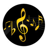 Music logo Stock Images