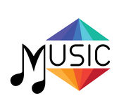 Music Logo Concept Royalty Free Stock Image