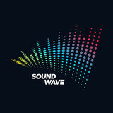 Music Logo concept Sound Wave, Audio Technology, Abstract Shape Royalty Free Stock Photo