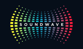 Music Logo concept Sound Wave, Audio Technology, Abstract Shape Stock Image