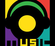 Music Logo Design Royalty Free Stock Photography
