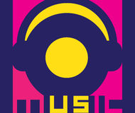Music Logo Design Stock Image