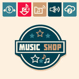 Music logo Royalty Free Stock Images