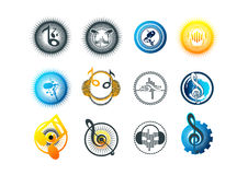 music,logo,karaoke,symbol,beat,icon and sound concept design stock illustration