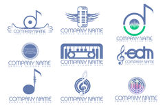 Music logo pack Stock Photo