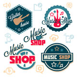 Music logo set Stock Photography
