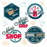 Music logo set Stock Photography