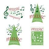 Music logos (vector) royalty free stock image