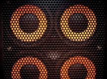 Music loud speaker detail stock image