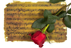 Music of love Stock Photography